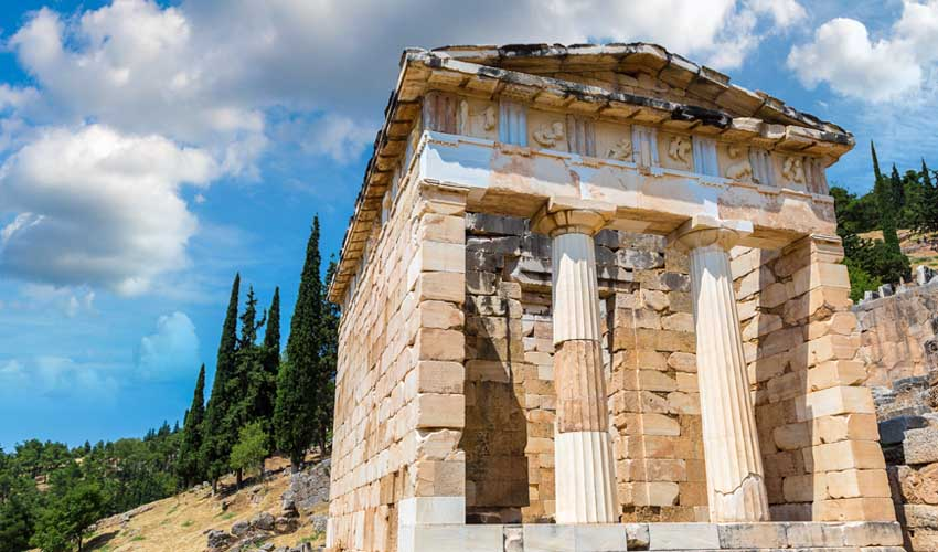 GRECE TOP A FAIRE Cité archeologique de Delphes temple