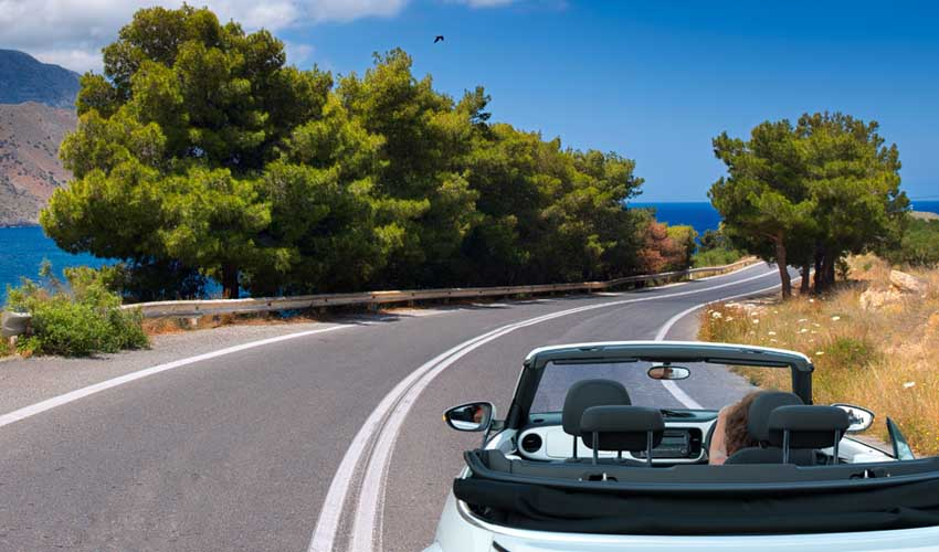 GRECE TOP PAS CHER voiture location route mer