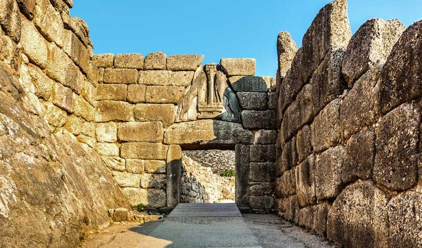grece top pas manquer cite des mycenes porte des lionnes