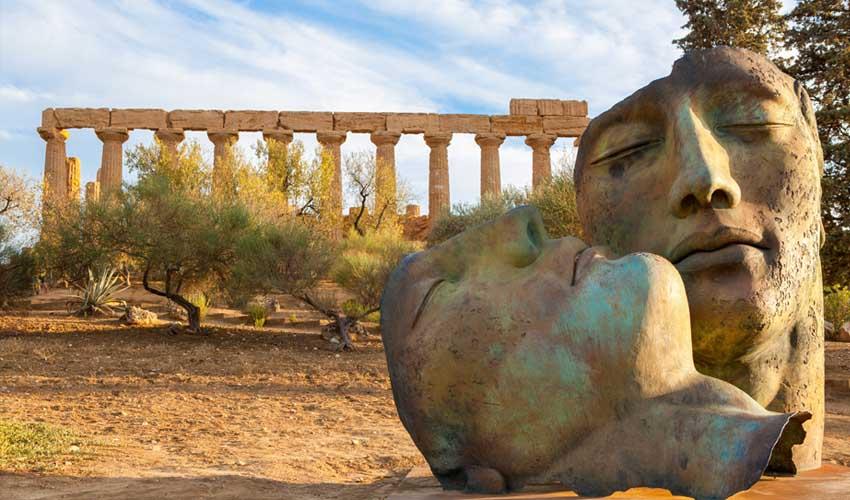 italie pas manquer agrigente sicile vallee des temples site archeologique et statues