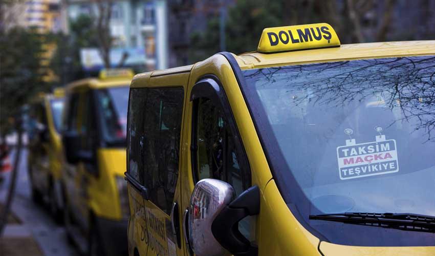 turquie pas cher dolmus mini bus jaunes transport visiter