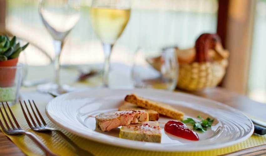 Vacanciel vacances a la campagne hotel de samatan pays basque assiette foie gras