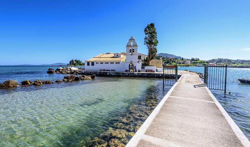 Le monastère de Vlachernes, Corfou, Grèce