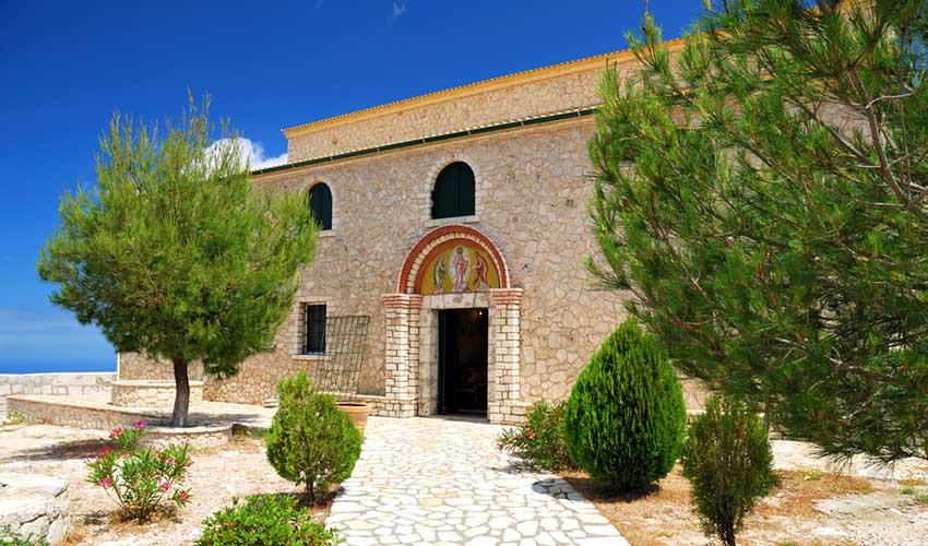 Le monastère de Pantokrator, mont Pantokrator, Corfou, Grèce