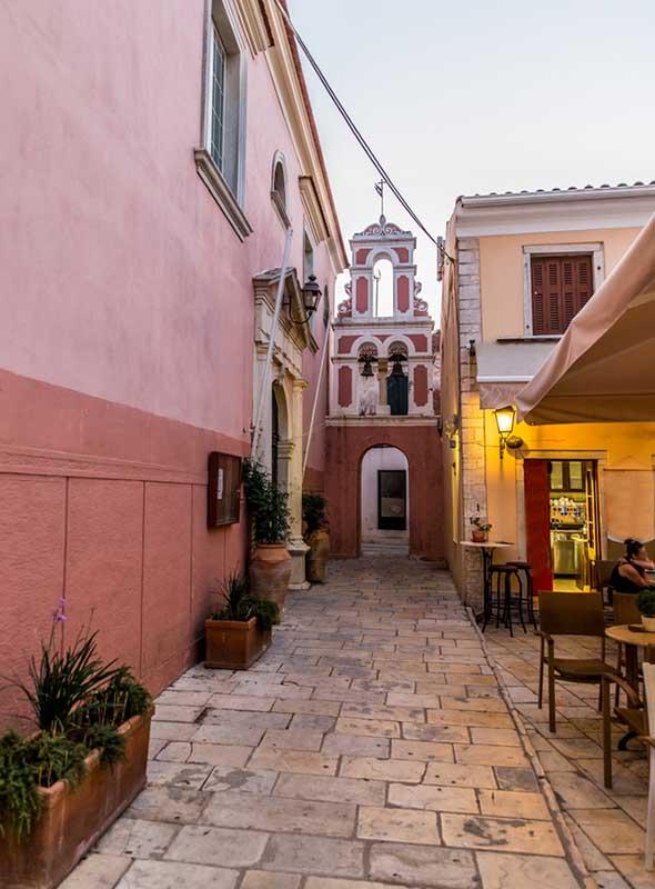 Église sur l'île de Paxos, Corfou, Grèce