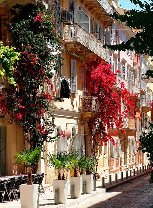 Rue de la ville de Corfou, Corfou, Grèce