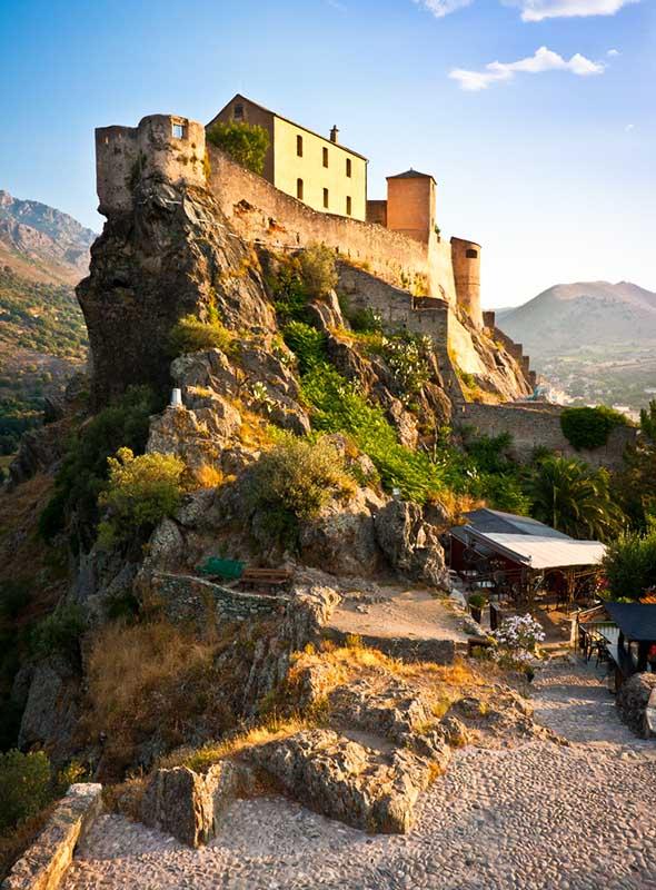 La citadelle de Corte en Corse