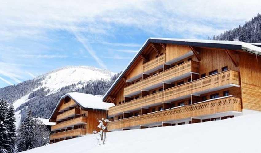 nemea vacances ski residence au grand lodge vue exterieure sur le domaine