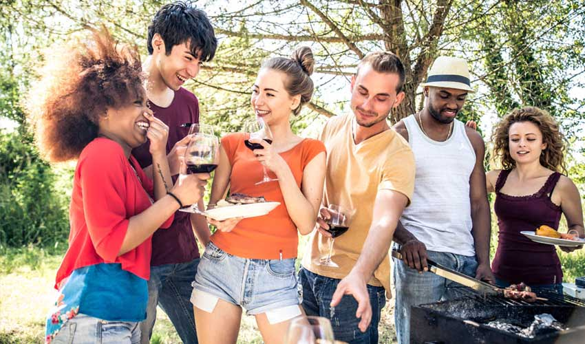 vvf villages clubs et animations groupe amis barbecue