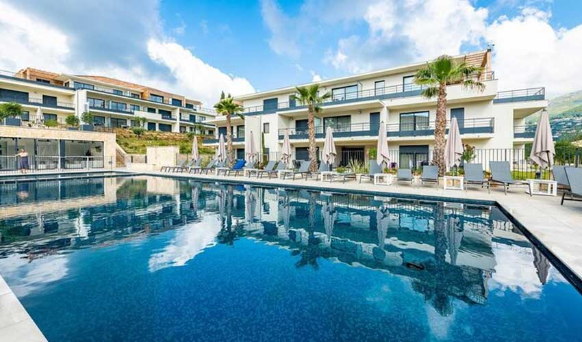 evancy cote azur vacances residence les jardins d'azur vence vue sur piscine