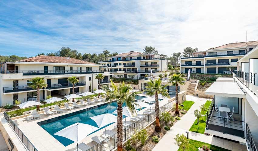 evancy presentation logement cote azur avec piscine residence les jardins d'azur