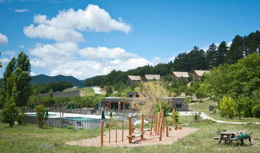 huttopia avis villages dieulefit  espaces nature