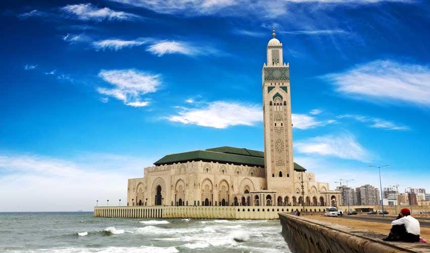 maroc a faire casablanca mosquee hassan en bord de mer