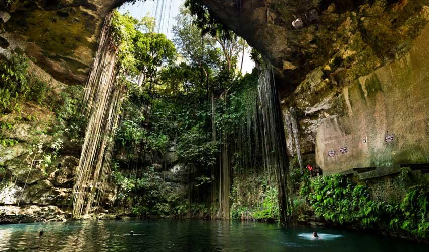 mexique pas manquer cenote ik kil yucatan chichen itza