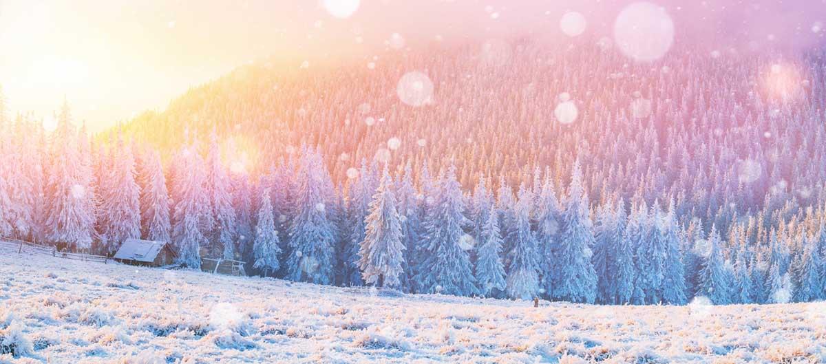 Flocon de neige en montagne avec Pierre & Vacances