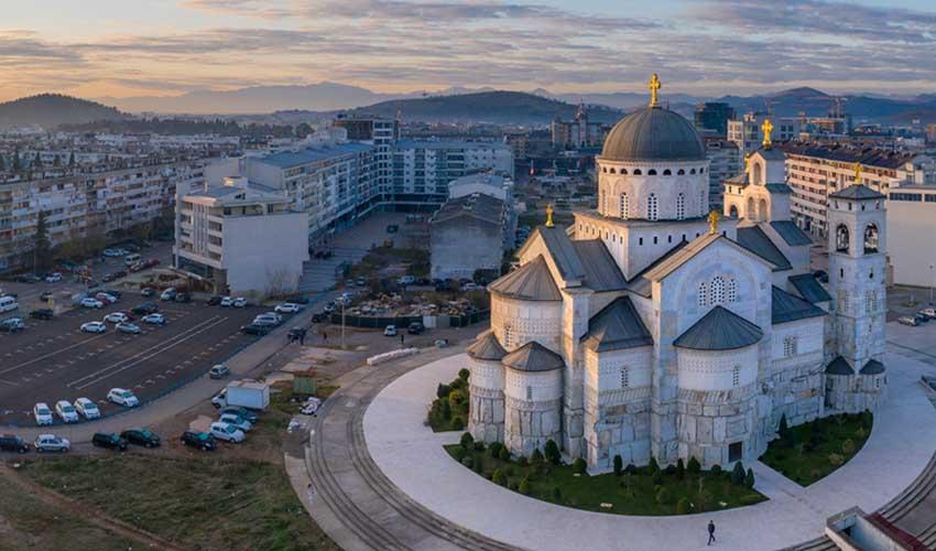 montenegro pas manquer Podgorica et sa cathedrale