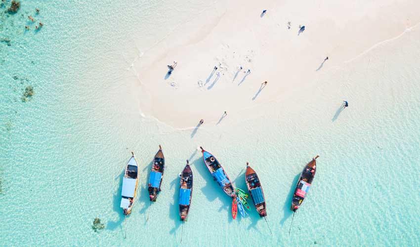 thailande pas cher koh lipe plage avec bateaux