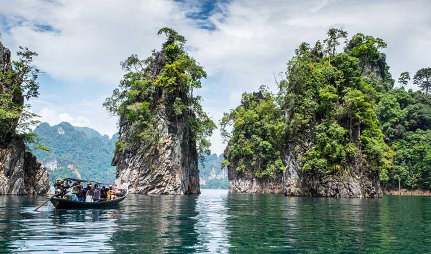 thailande pas manquer parc national khao sok bateau entre les ilots