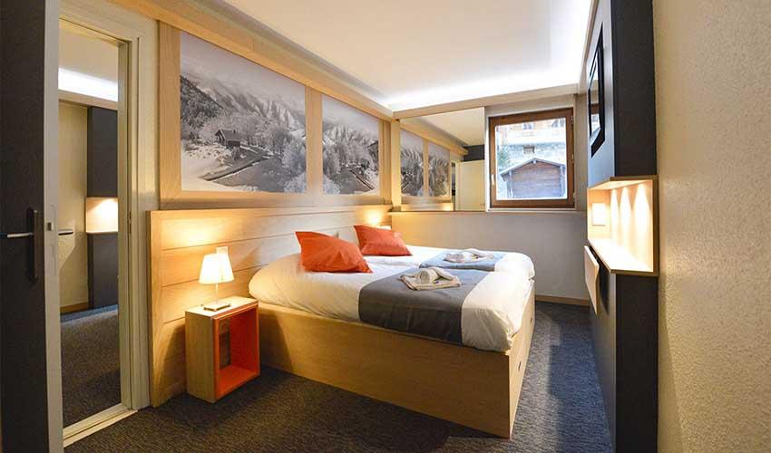 Chambre dans un hôtel club MMV à la montagne