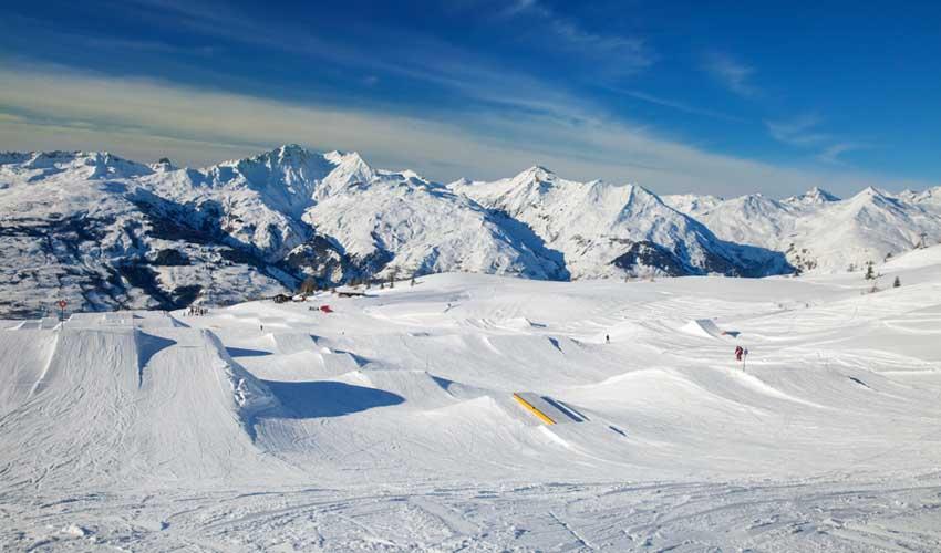 travelski top stations snowpark les arcs