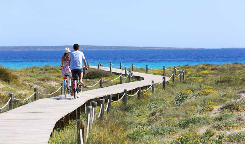 Faire le tour de l'île de Formentera à vélo