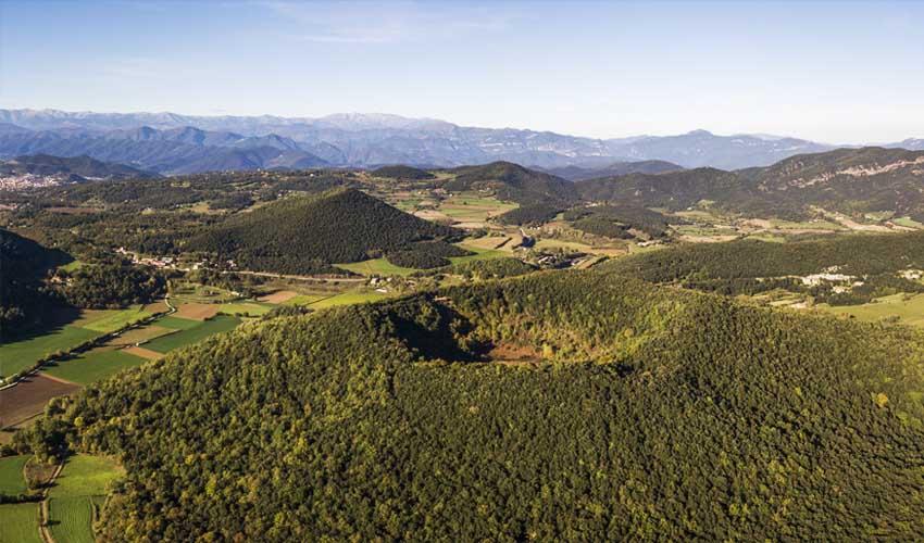 costa brava a faire Parc Naturel de la Garrotxa en montgolfiere survoler les volcans