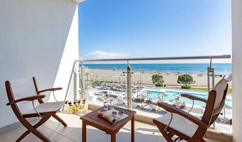 top sejours club marmara otrant vue depuis balcon sur mer