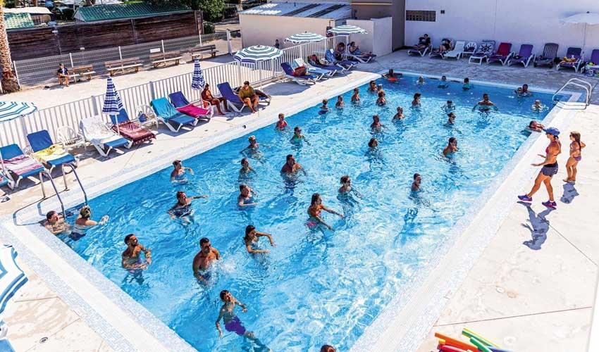 homair camping 5* piscine cours aquagym
