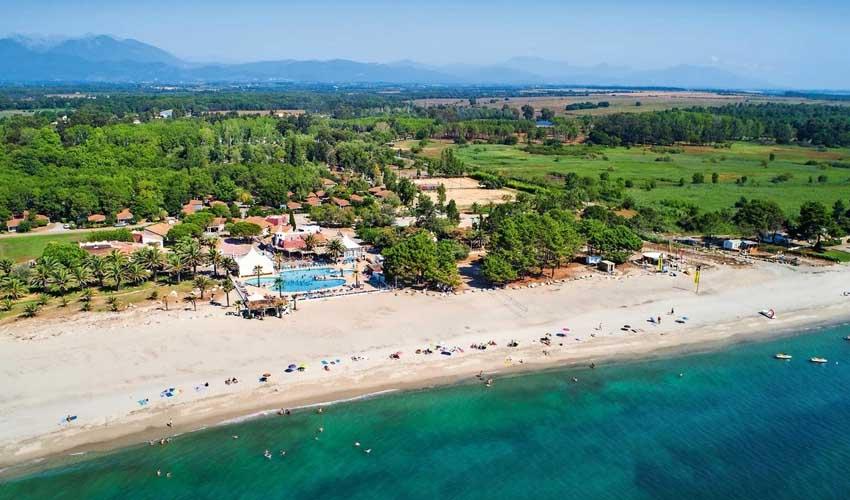 homair les avis camping Marina d'Erba Rossa vue sur la plage