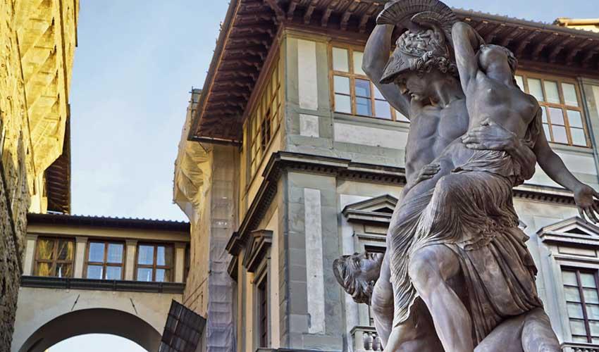homair visiter italie en famille florence statues gallerie des offices