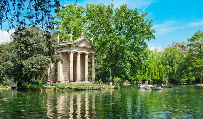 homair visiter italie en famille rome parc villa borghese