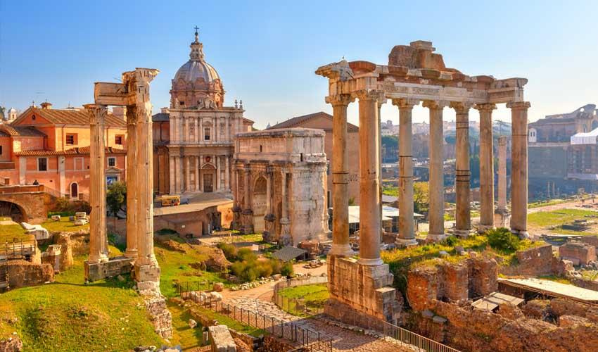 homair visiter italie en famille camping pres de rome forum romain ruines
