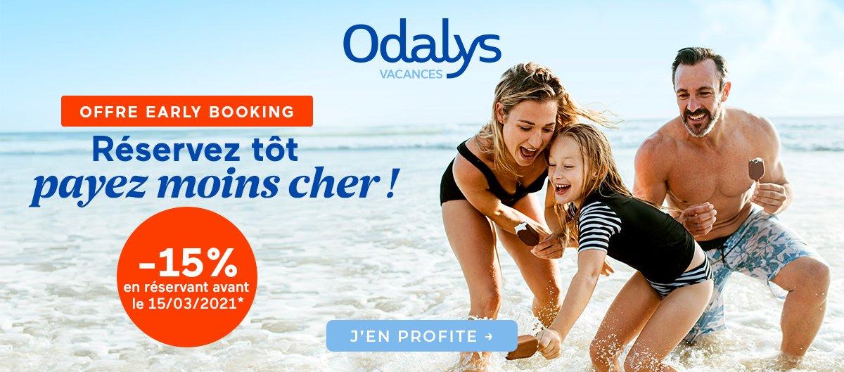 Promotion sur les premières minutes Odalys-Vacances