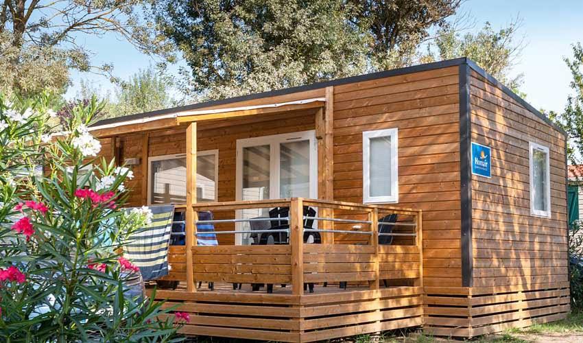 Hébergement en mobil-home dans un camping village Homair
