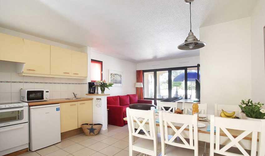 Hébergement en résidence club Odalys : cuisine équipée