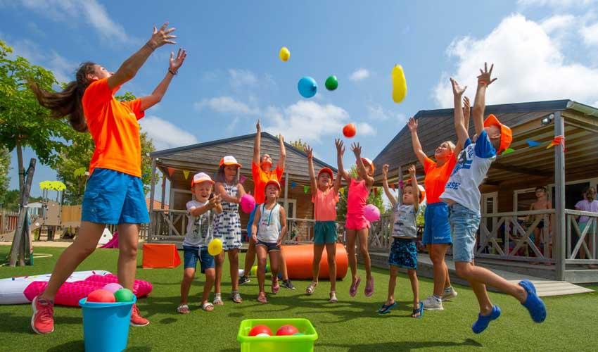 campings parc aquatique tohapi les vignes animations club enfants
