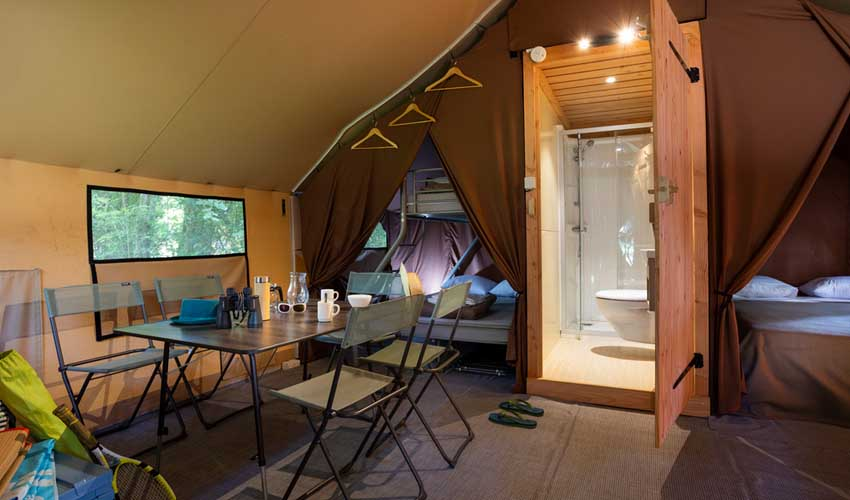 campings pays bas huttopia de roos tente trappeur ( pers
