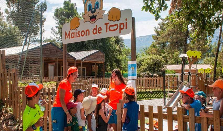 Maison de Topi dans un camping Tohapi avec club enfant