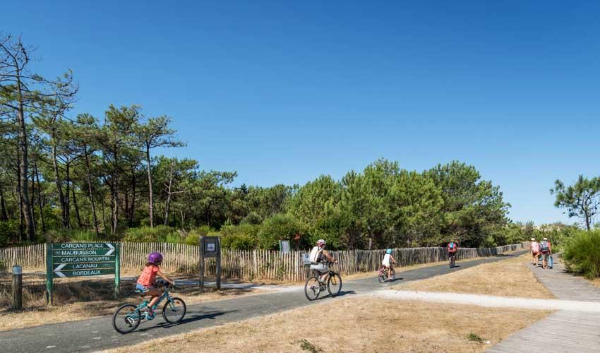 huttopia campings villages et lacs camping lac de carcans pistes cyclables