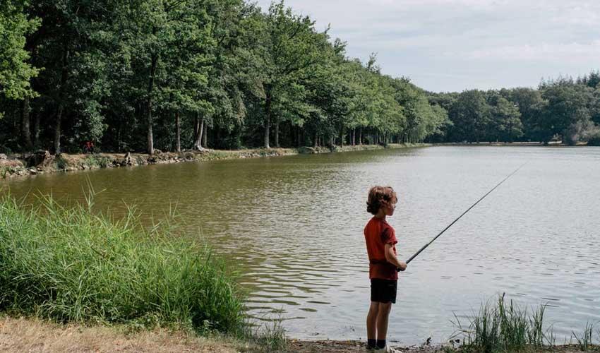huttopia campings villages et lacs camping le lac de sillé enfant qui peche