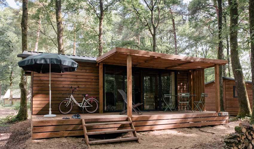 huttopia campings et lacs camping lac de sillé chalets portland