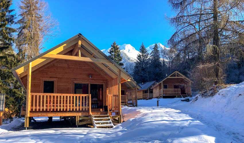vacances hiver huttopia chalets camping bozel-en-vanoise 3 vallées