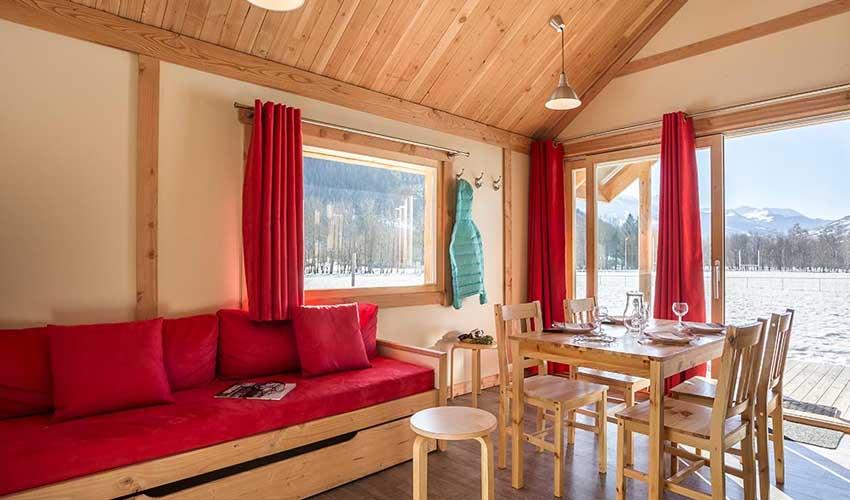 vacances hiver huttopia camping vallouise logement