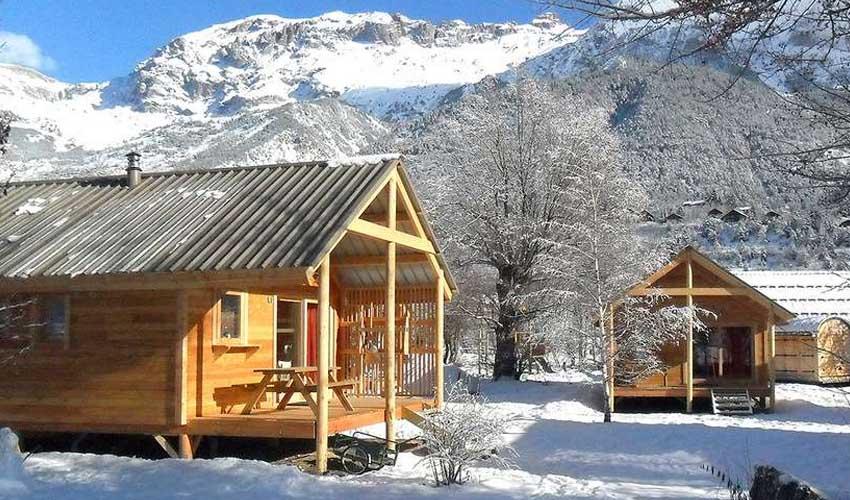 vacances hiver huttopia camping vallouise