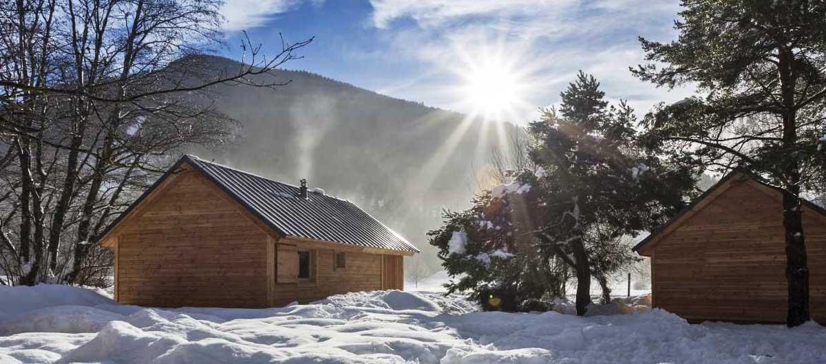 vacances hiver huttopia chalets campings a la montagne