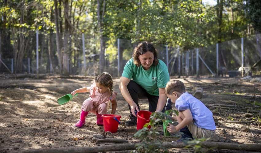 vacances nature center parcs le bois aux daims activites exterieures enfants animations