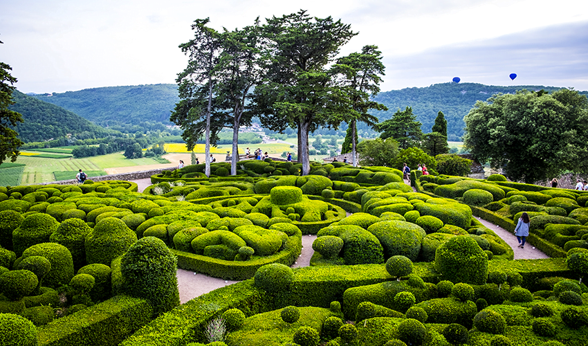 Découvrez les magnifiques jardins suspendus de Marqueyssac