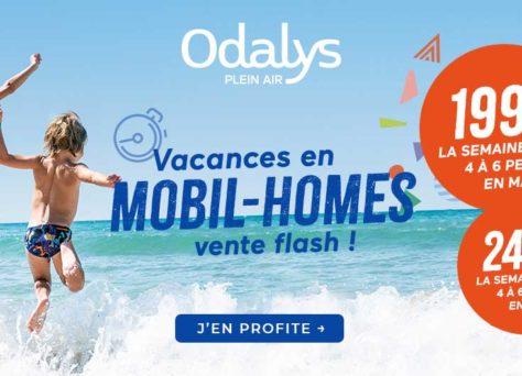 Vente flash Odalys : mobil-homes à 199€ la semaine