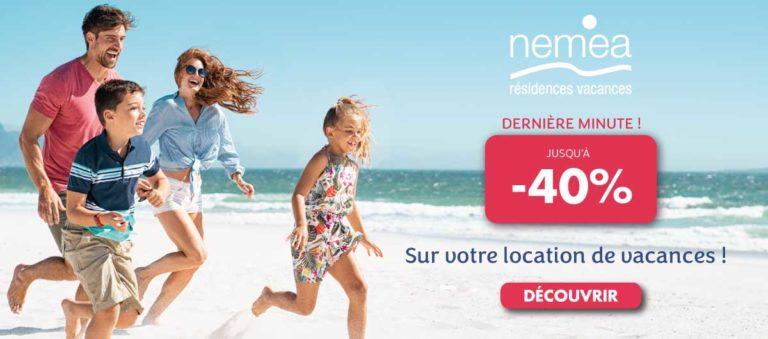 Jusqu'à -40% sur votre location de vacances cet été avec Nemea