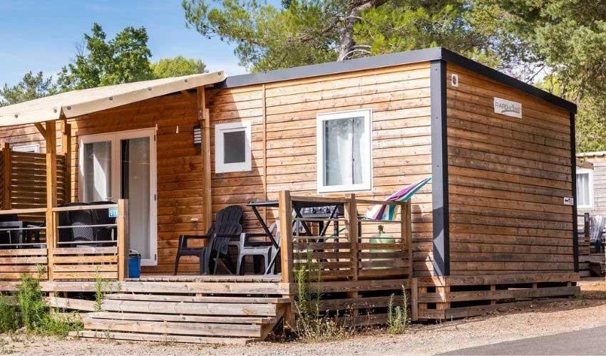 Un mobil home au camping Homair Les Lacs du Verdon
